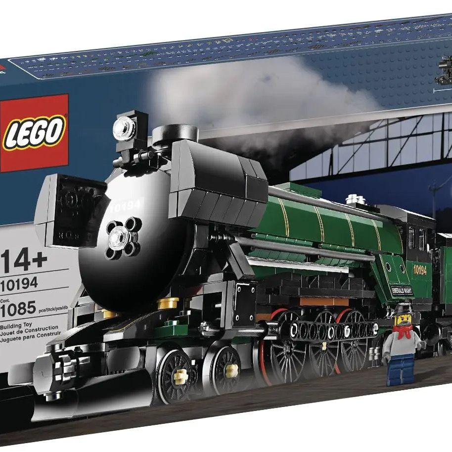 【现货】正品乐高LEGO 10194 翡翠之夜蒸汽火车 绝版神货 轻压盒