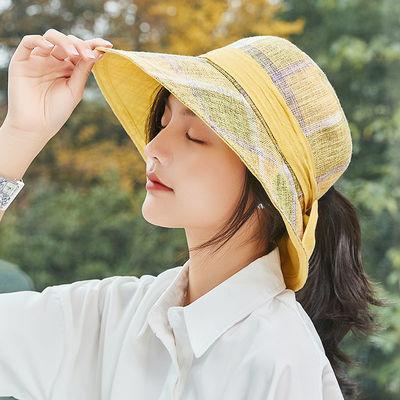 23540/布塔防晒帽户外防紫外线沙滩太阳渔夫帽女士可折叠遮阳帽子