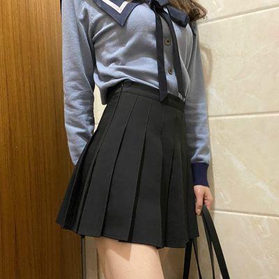 29570/LGGSTYLE Chic风高腰显瘦百搭百褶裙短裙a字裙半身