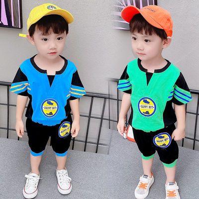 男童套装夏装2021年新款1-3岁婴儿5纯棉时尚宽松中小童蝙蝠两件套