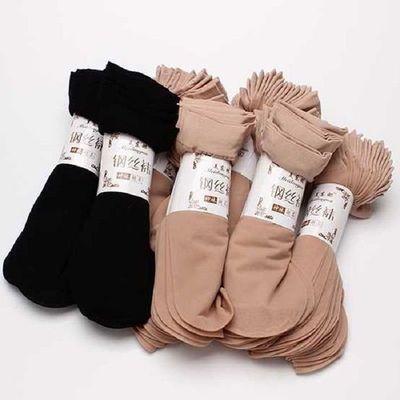 钢丝袜短袜袜子女春夏短筒袜不勾丝钢丝袜短丝袜