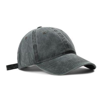 76494/帽子女鸭舌帽软顶韩版ins百搭水洗纯色棒球帽休闲男士日系牛仔帽