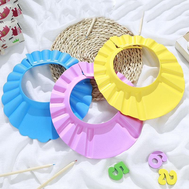 简易可调节护耳帽婴儿儿童洗头帽