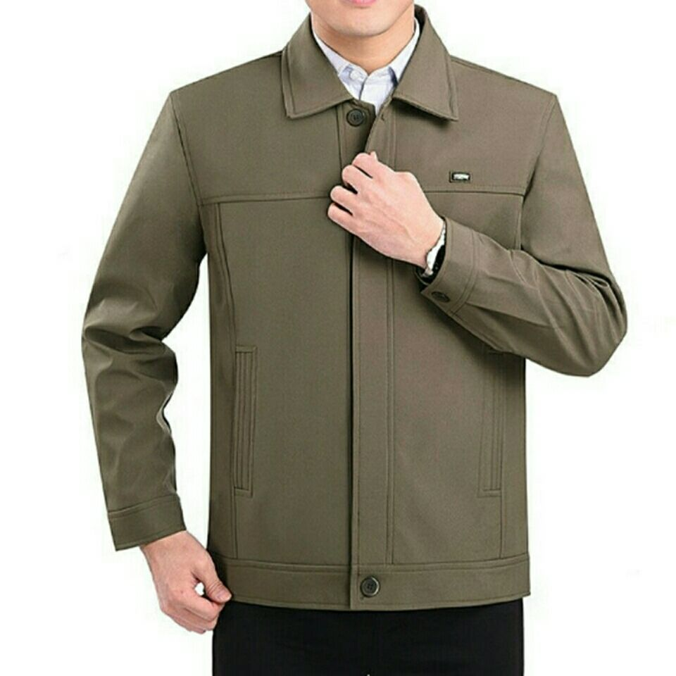 新款中老年男装夹克男士外套