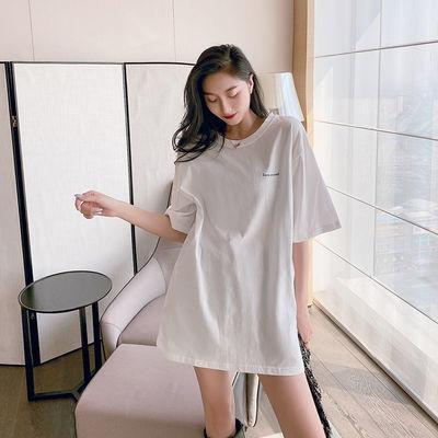75338/纯白色纯棉短袖t恤女2021新款宽松内搭时尚洋气ins潮牌上衣打底衫