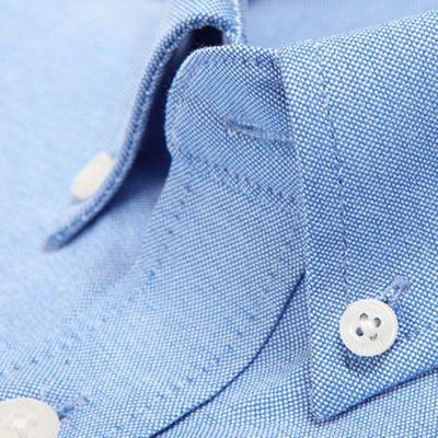 87627/俞兆林正品春季蓝白色男衬衫长袖衬衣职业牛津布商务正装免烫寸衫