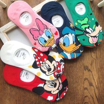 袜子女卡通可爱短袜夏季浅口女船袜透气防臭米老鼠低帮隐形袜