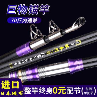 69046/锚鱼竿远投锚竿可视锚鱼杆套装空心竿稍超轻超硬巨物10.0普通环子