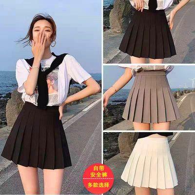 15370/百褶裙女超短裙半身裙2021新款春夏高腰显瘦a字裙百搭黑色小裙子