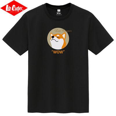 Lee Cooper2021新款男士印花圆领短袖T恤潮流夏季半袖男装体恤