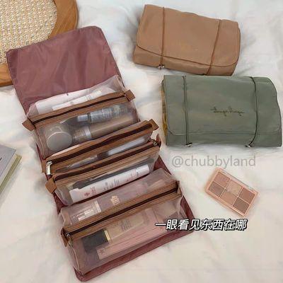 39027/韩国ins2021新款化妆包女透明大容量便携洗漱包可拆分折叠收纳袋