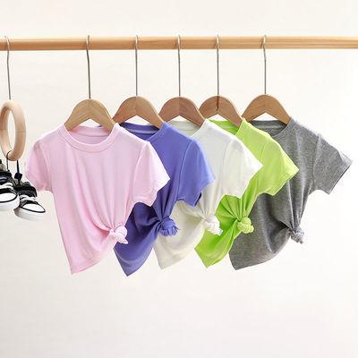 新款儿童短袖单件小中大童韩版宽松半袖女童上衣男童T恤3宝宝夏装