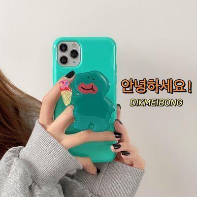 ins韩国恐龙支架苹果12/11promax/7plus/8手机壳Xsmax/6S软壳可爱