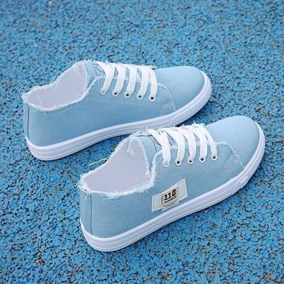 69386/帆布鞋女2021新款韩版百搭平底布鞋夏季薄款单鞋女学生ins潮板鞋