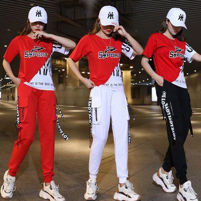 30471/杨丽萍广场舞服装健身运动女春夏跳舞衣服鬼曳步舞新款套装舞蹈服