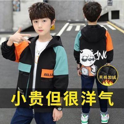 童装男童外套春秋款2021新款拼色中大儿童韩版中长薄款帅气风衣潮