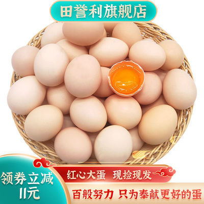40枚正宗土鸡蛋散养农村柴鸡蛋20枚现捡现发营养笨鸡蛋新鲜批发价