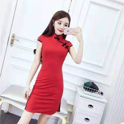 76942/2021新款夏季改良旗袍俢身时尚中国风09