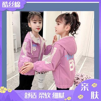 女童春秋装风衣外套2021新款时髦洋气中大童韩版时尚女孩潮外套