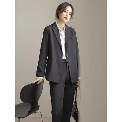 18525/小西装套装女春秋款2021气质显瘦矮个子宽松大学生二八月面试西服