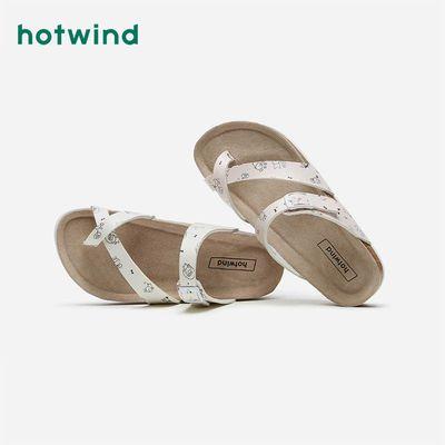 35159/热风女鞋2021年夏季新款女士时尚拖鞋平底夹趾软木拖外穿H60W1626