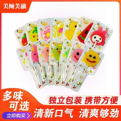 卡通创意水果软糖散装混合橡皮糖果网红棒棒糖高颜值儿童零食批发