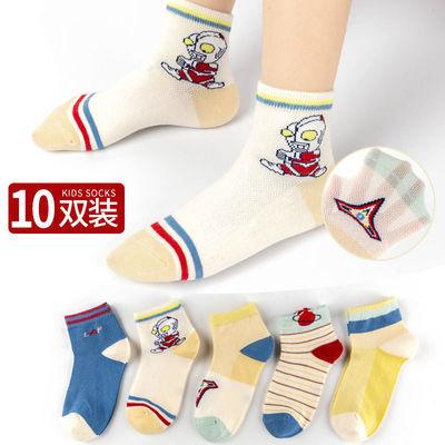 春夏儿童袜子超薄款卡通网眼宝宝船袜男童中大童女孩婴儿中筒袜子