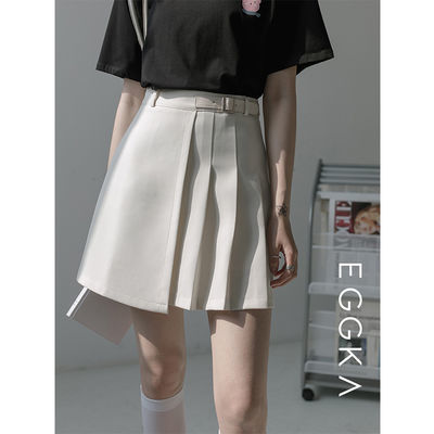 37443/高腰百褶裙半身裙女不规则显瘦a字短裙包臀裙2021年春季新款裙子