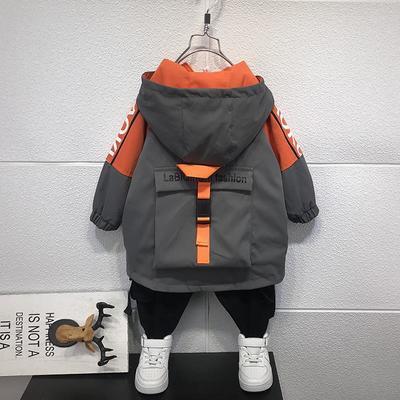 75514/男童外套秋款2021新款洋气时髦风衣儿童秋冬季帅气夹棉上衣夹克潮
