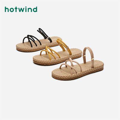 37512/热风拖鞋女外穿2021年夏季新款女士一字带时尚休闲凉鞋H62W1627