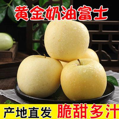 山东烟台黄金奶油富士新鲜苹果3/5/10斤装脆甜糖心丑苹果