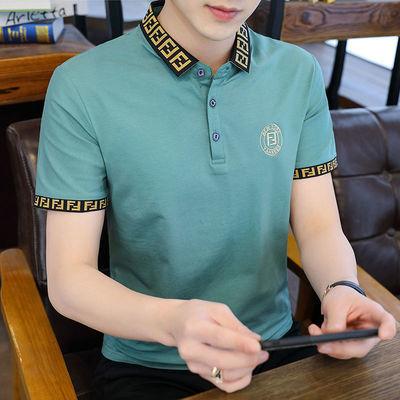 29062/新疆棉夏季男士短袖POLO衫韩版时尚潮流半袖高品质翻领T恤衫男