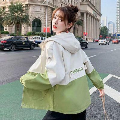 65564/bf风工装外套女生春秋装2021新款初中高中学生韩版宽松短款上衣服