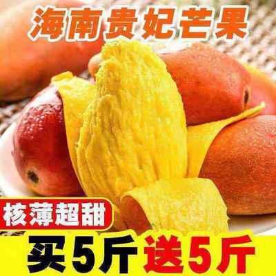 现摘海南贵妃芒果水果新鲜红金龙应季热带芒果10斤/5/3斤整箱批发