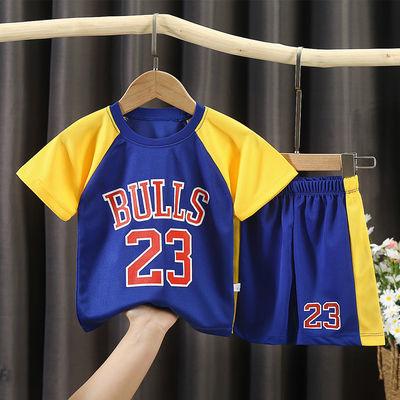 新款儿童篮球服夏季短袖运动套装男童速干球衣男女孩中大童小学生