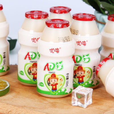 91648/珍果园AD钙奶100ml乳酸菌儿童早餐营养牛奶酸奶饮料ad钙整箱批发