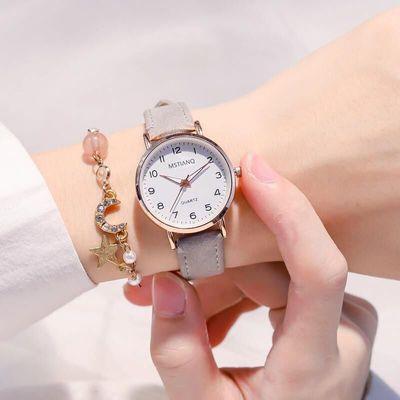 考试用手表女学生韩版简约防水气质夜光森系小清新百搭ins学院风
