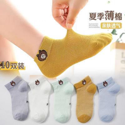 儿童袜子春夏季超薄款纯棉冰丝夏天透气网眼宝宝短袜男童女童船袜