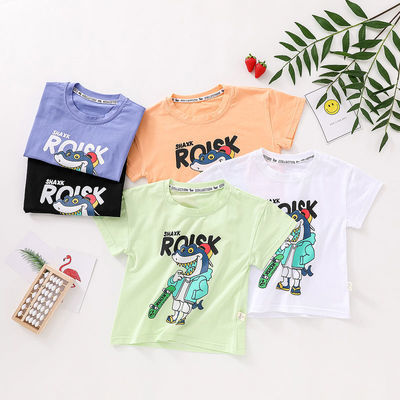 2021夏装儿童新款短袖棉体恤男童女童卡通中小童装衣服上衣半袖潮