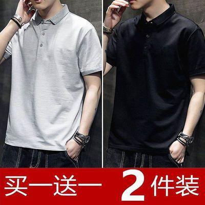 20094/青年男士短袖纯色POLO衫男人大码装短T青少年半袖t恤学生POLO衫男