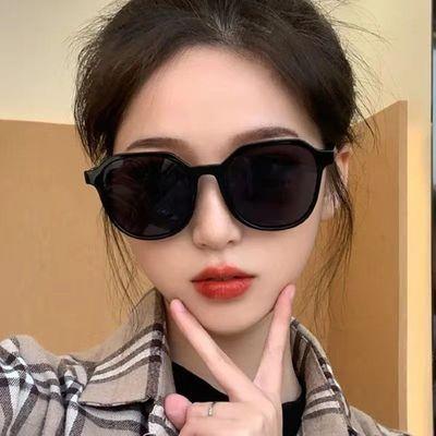眼镜女ins墨镜韩版网红同款抖音蹦迪偏光太阳眼睛无度数防紫外线