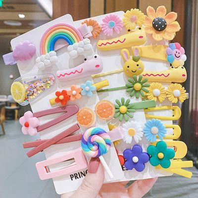韩国儿童发卡女公主宝宝可爱糖果色发饰网红彩虹小发夹边夹子头饰