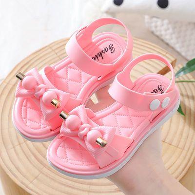 34535/女童凉鞋夏季2021新款儿童软底时尚小女孩公主鞋宝宝沙滩露趾凉鞋