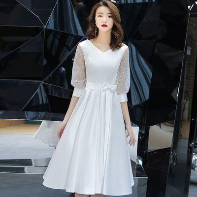 35132/高端晚礼服裙女2021春夏新款高贵优雅气质生日宴会艺考平时可穿