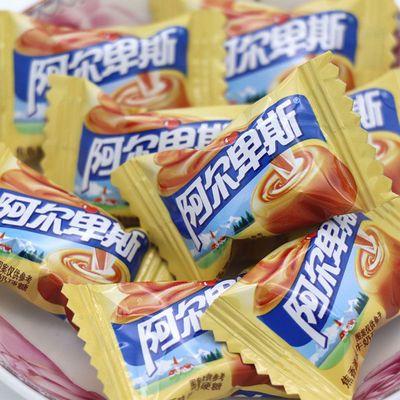 75475/阿尔卑斯牛奶原味硬糖500g/2500g散装多种水果味婚庆聚会接待糖果