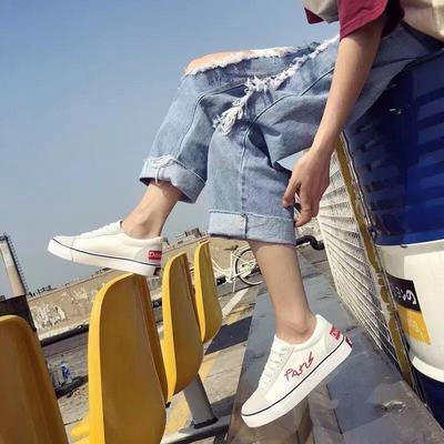17256/2021新款帆布鞋女学生韩版百搭女鞋原宿风平底鞋子休闲低帮板鞋潮