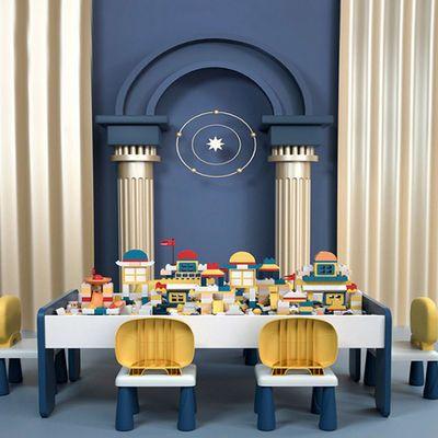 兼容积木桌子多功能儿童学习两用宝宝收纳益智拼装玩具大颗粒