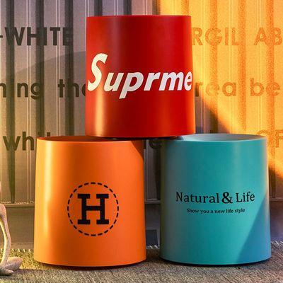 网红垃圾桶客厅高档家用卧室轻奢北欧风创意拉垃圾桶简约大号纸篓