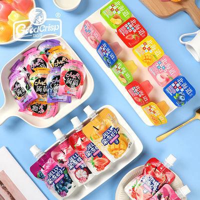 GdCrisp 吸吸果冻可吸水果布丁蒟蒻果冻儿童零食0脂肪低脂整箱8袋