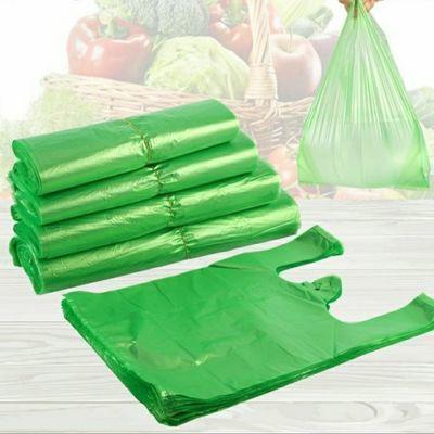 绿色买卖蔬菜袋方便袋背心袋手提袋子马甲袋全新料大小塑料袋批发